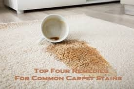 Top Four Remedies For Common Carpet Stains